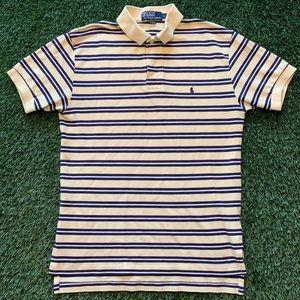 🏇Polo Ralph Lauren Yellow/Navy/White Striped Polo